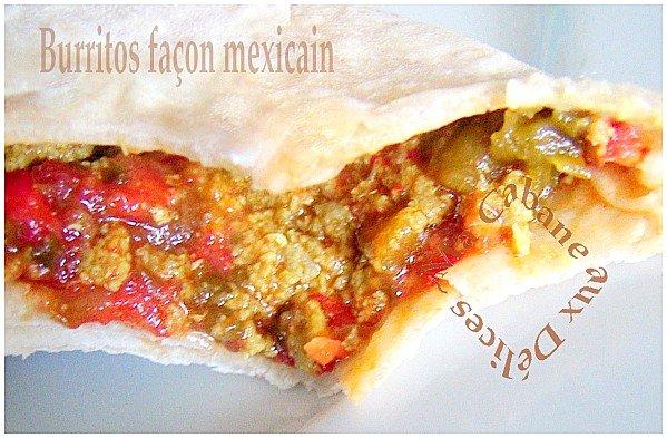 Burritos mexicain poivrons viande hachée