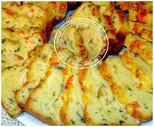 cake salé crevette saumon