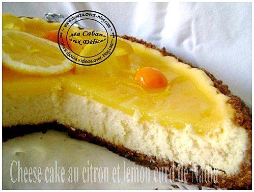 Cheesecake au citron et lemon curd