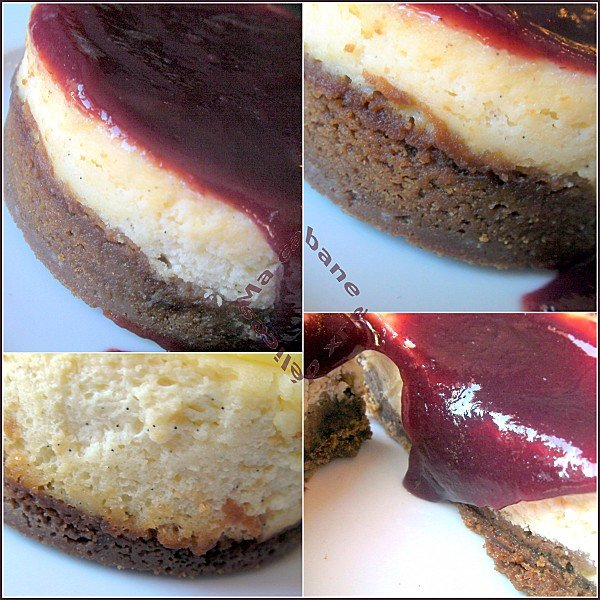 cheesecake vanille coulis de cassis