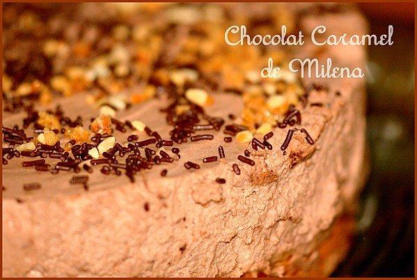 Gateau chocolat caramel
