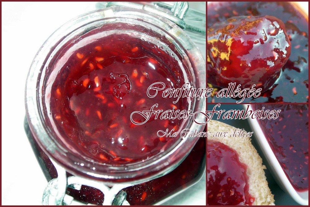 Confiture allégée fraises framboises