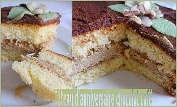 gâteau chocolat café montage