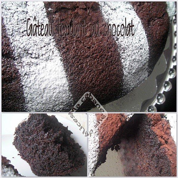 gateau fondant chocolat montage