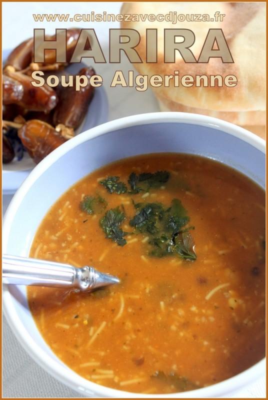 Harira soupe algerienne recettes faciles recettes rapides de djouza - Recette de cuisine algerienne facile ...