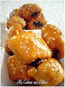 Petit makrout aux dattes et graines de sésame