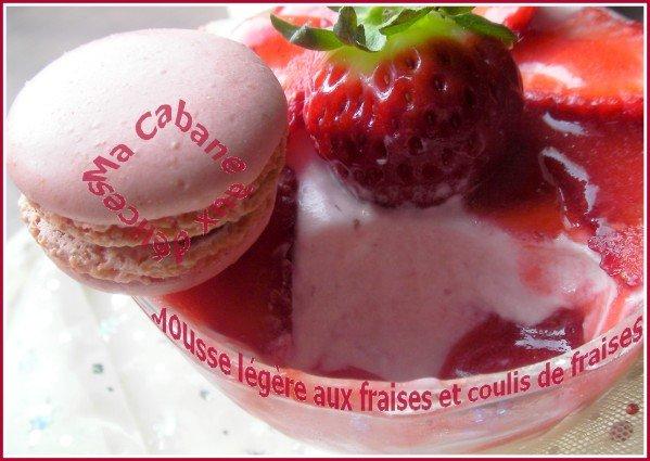 Mousse aux fraises à l'agar agar