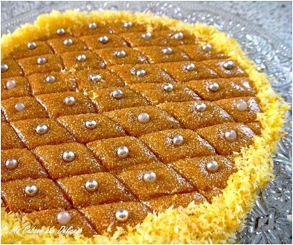 Tamina ou gateau de semoule au miel