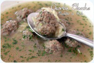 Chorba blanche soupe algerienne