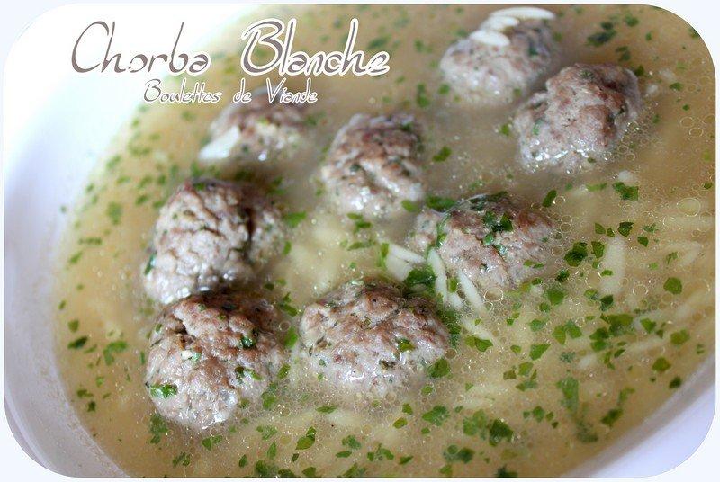 Chorba blanche aux boulettes de viande photo 2
