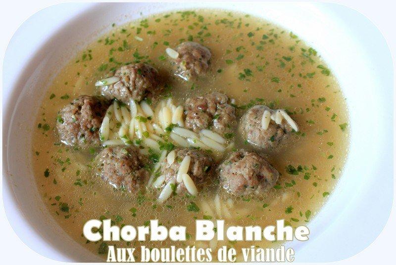 Chorba blanche aux boulettes de viande photo 4
