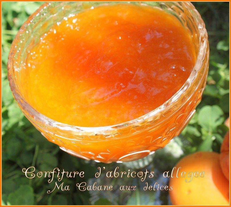 Confiture d'abricots allegée a la vergeoise et agar-agar