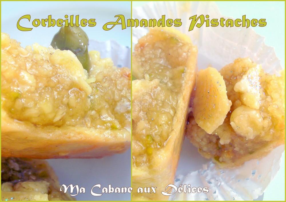 Corbeille amandes pistache