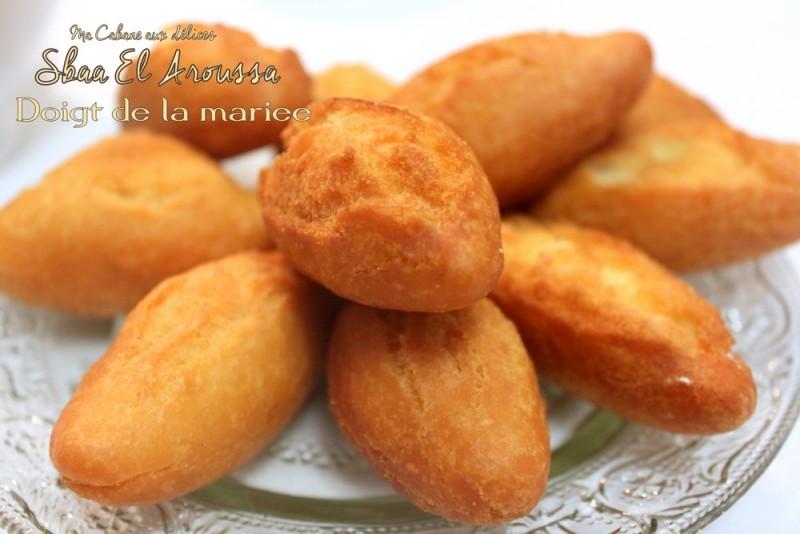 Beignet sbaa el aroussa doigts de la mari e recettes - Cuisine orientale facile ...