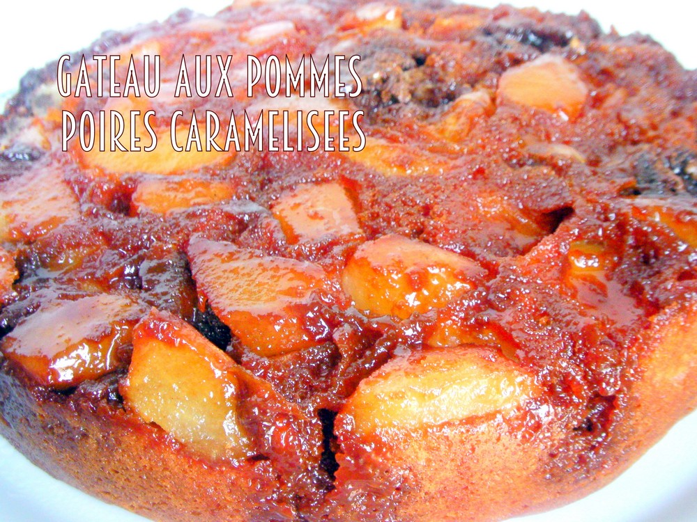 Cake aux pommes caramelisees facile