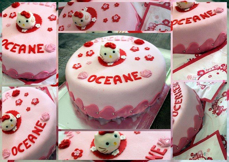 Gateau d'anniversaire Hello Kitty