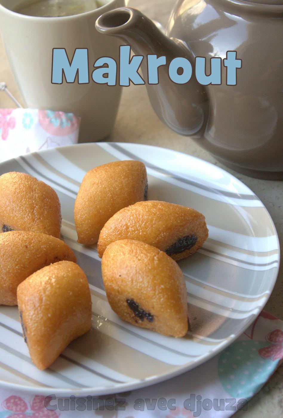 Makrout aux dattes cuits dans l'huile