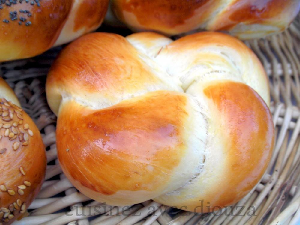 pain brioché en rosace, pain du ramadan