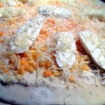 Pizza sauce blanche au poulet