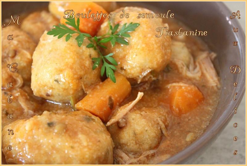 recette kabyle boulette de semoule tiasbanine blogs de cuisine. Black Bedroom Furniture Sets. Home Design Ideas