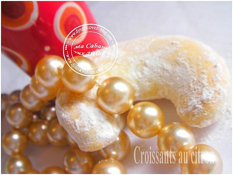 Biscuits sec croissant au citron