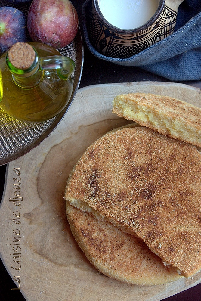 La galette berbère et kabyle à l'huile d'olive