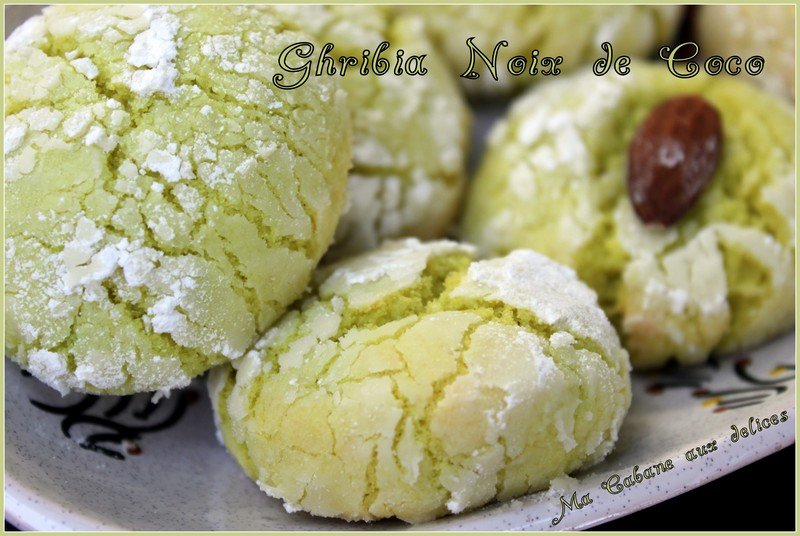 Ghribia ou Ghribiya noix de coco