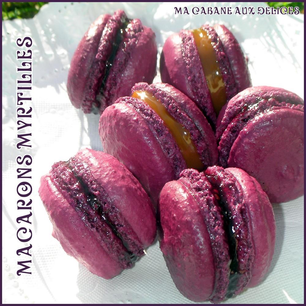 macaron myrtilles