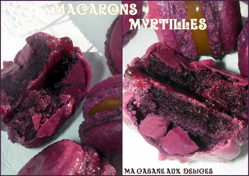 macarons myrtilles