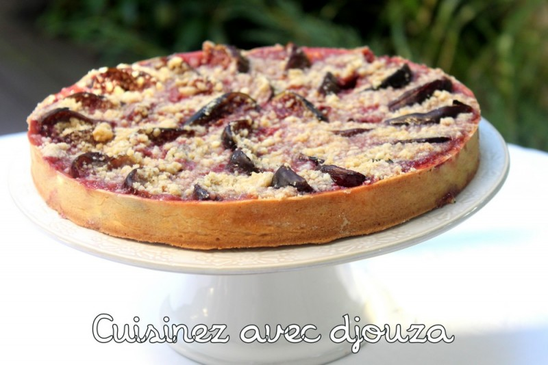 tarte crumble aux figues noix amande cannelle recettes faciles recettes rapides de djouza. Black Bedroom Furniture Sets. Home Design Ideas