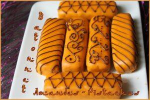 Gateau algerien batonnet amandes pistaches