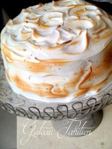 Gâteau tahitien au chocolat meringue citron 2