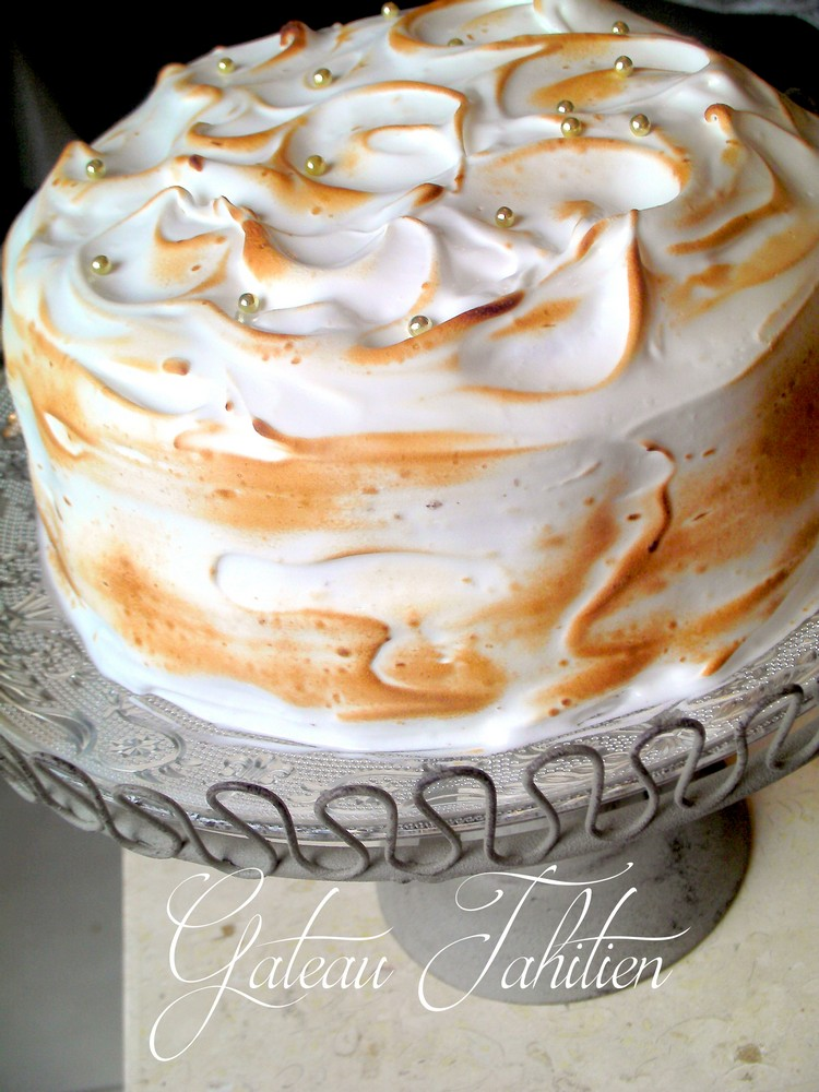 gateau tahitien meringue au citron recettes faciles recettes rapides de djouza. Black Bedroom Furniture Sets. Home Design Ideas