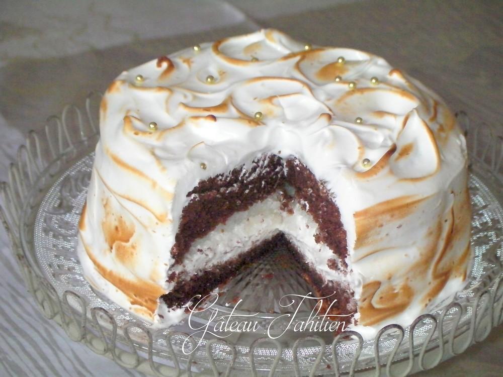 Gâteau tahitien au chocolat meringue citron 3