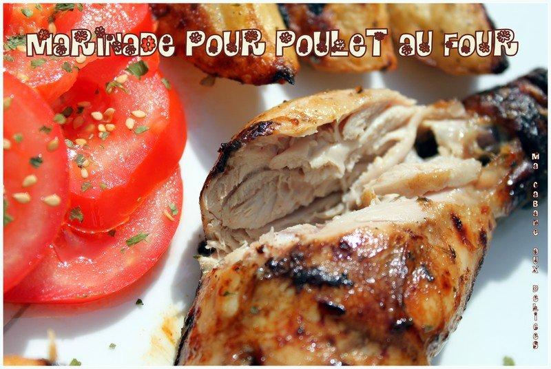 Marinade poulet au four ou barbecue