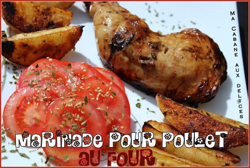 Marinade pour poulet au four et pommes de terre