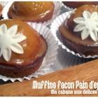 Muffins aux épices et confiture d'oranges