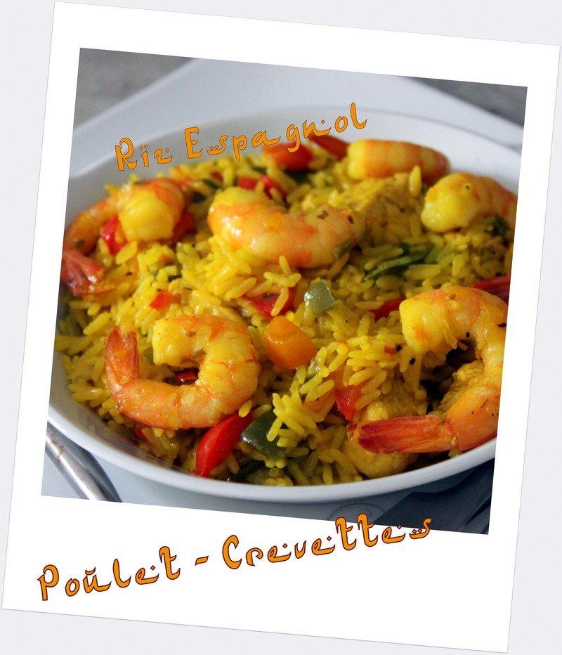 riz espagnol poulet crevettes recettes faciles recettes rapides de djouza. Black Bedroom Furniture Sets. Home Design Ideas