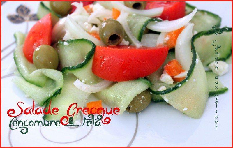 Salade grecque concombre feta