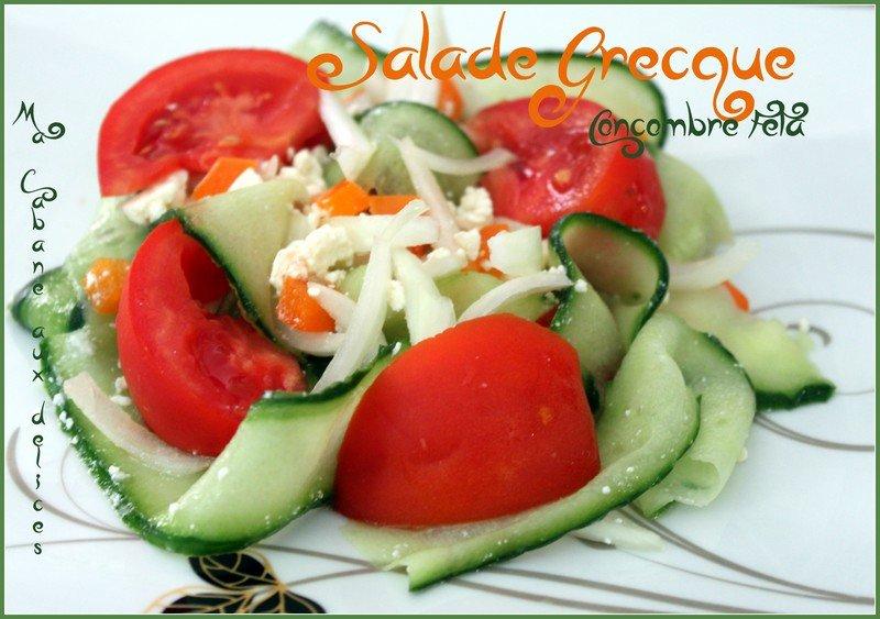 Salade grecque concombre