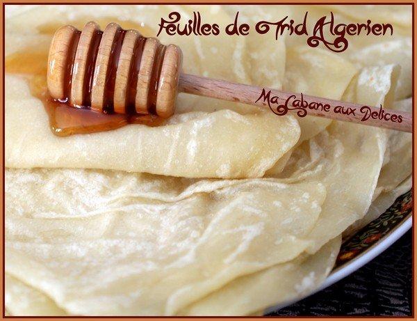 Trid crepes fines algeriennes