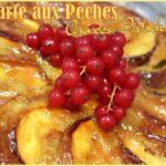 Tarte aux peches creme d'amande pistache