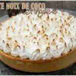 Tarte noix de coco meringuee