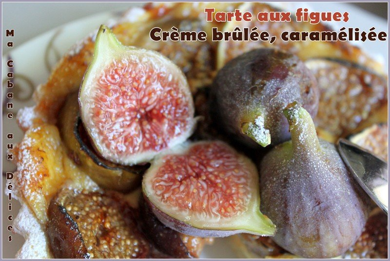Tartelette aux figues creme brulee caramelisees photo 3
