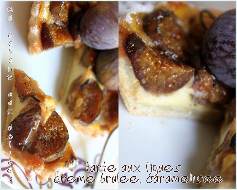 Tartelette aux figues creme brulee caramelisees photo 4