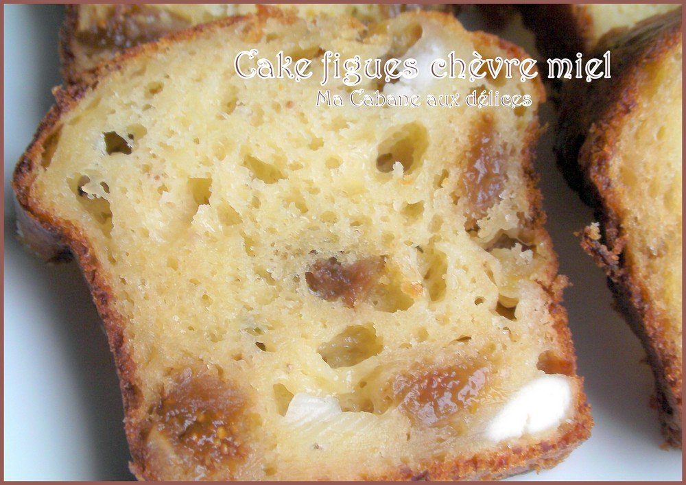 cake chevre figues miel