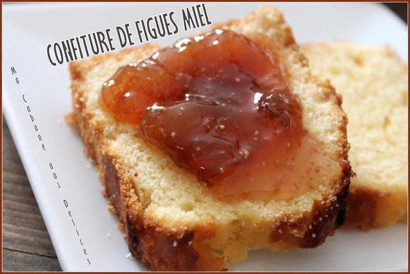 Confiture figues miel