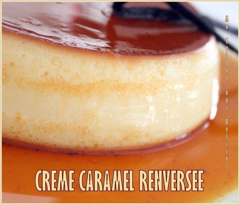 Creme caramel renversee