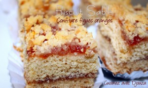 Sablé confiture figues orange