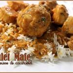 Mafé, poulet au beurre de cacahuète